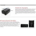 HL-130C-V Compact Series V-mount accu 130Wh 8.8Ah  Samsung or LG A grade