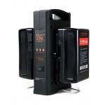 Dual V-mount Charger T & Y Dubbel lader voor 2 V-mount accu's tegelijk