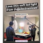 DJ-112S 60W LED Softlight Flatpanel BiColor 2800-6500K presets 1850 LUX display V mount DMX App Control