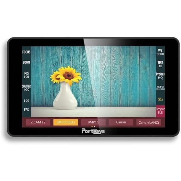 Portkeys LH5H 5.2 inch 4K FHD Touchscreen Ultrabright  1700 Nits HDMI monitor met 3D LUT en ingebouwde Bluetooth module