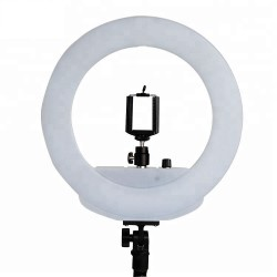 LED Ringlight BiColor met smartphone houder