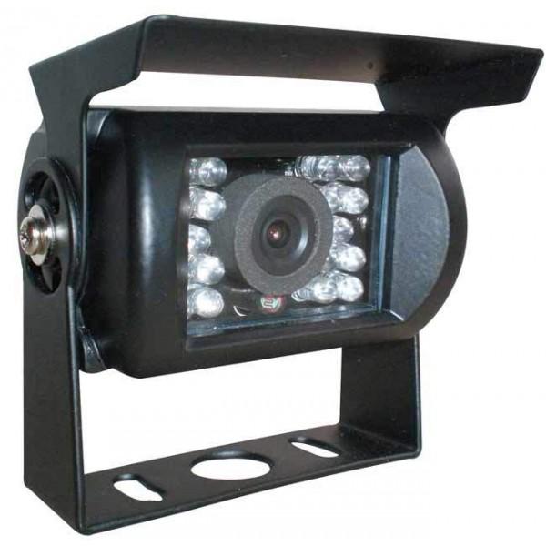 Achteruitrijcamera zwart 4 polig met geluid en IR nachtzicht