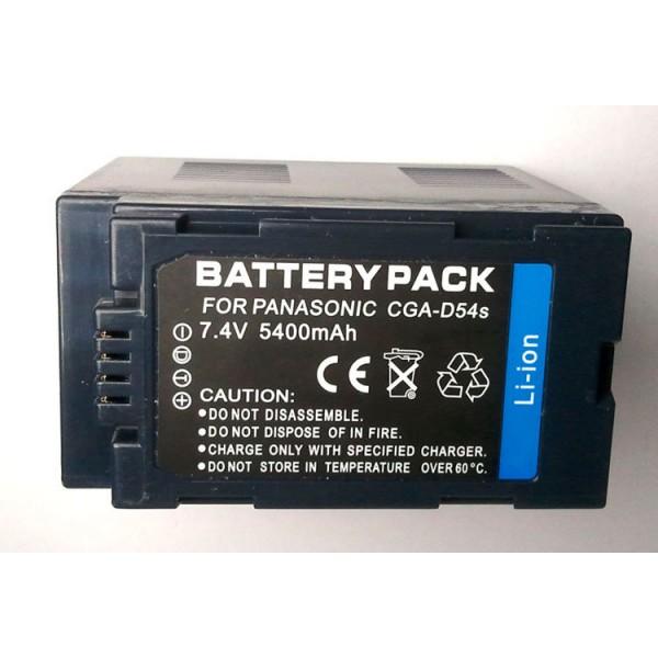 GCA D54S Panasonic compatible Li ion batterij cap. 5400 mAh