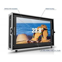 DJE2380-B 24 inch UHD Broadcast monitor SDI - 4 x HDMI Quad View