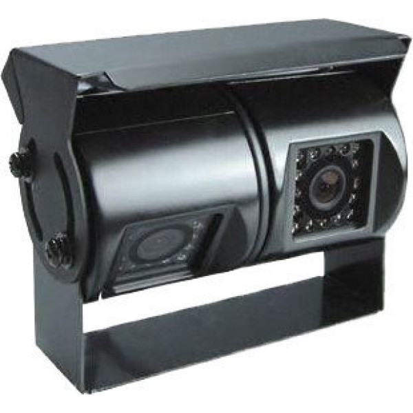 Dual Lens achteruitrijcamera zwart RCA tulp met Sony HR CCD
