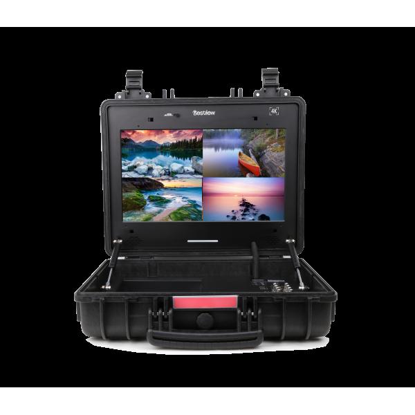 Bestview SP17F 4K 17 inch UHD Broadcast monitor 2 x HDMI - 4 x 3G-SDI Quad View