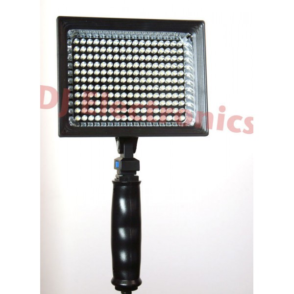 LED Cameralicht 187 leds 11 Watt 1250 Lux incl.  NP F970 accu