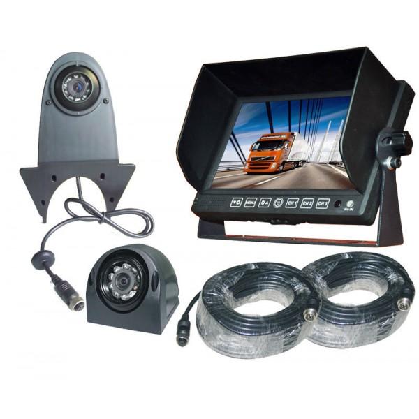 Achteruitrijcamera set 7 inch HD monitor zij + bestelbus camera