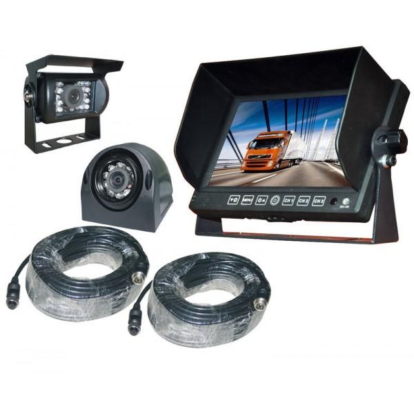 Achteruitrijcamera set 7 inch HD monitor zij + achteruitrijcamera