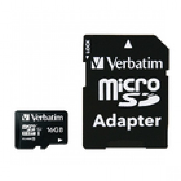 Micro sdhc 16gb* - klasse 10 met adapter VB-44082